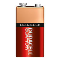 Duracell Quantum - 9V Size - Long-Lasting Advanced Alkaline Battery - Duralock Technology - Professional Grade - 12 Pack - QU1604