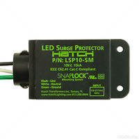 LED Single (Split) Phase Surge Protector - NEMA 3R Indoor/Outdoor Enclosure - Type 4 SPD - Hardwired - 10kV, 10kA Maximum Capacity - 120-277 Volt - Hatch LSP10-SM