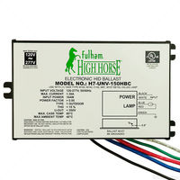 Fulham H7-UNV-150HBC - 150 Watt - Electronic Metal Halide Ballast - ANSI M102/142 - 120/277 Volt - Power Factor 95% - Bottom Lead Mounting