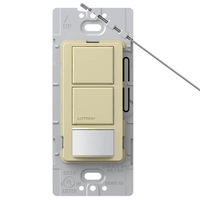 Ivory - Passive Infrared (PIR) Dual-Circuit Occupancy/Partial On Sensor - 6 Amp Max. - 120-277 Volt - Ground Required