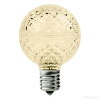 25 Pack - 0.96 Watt - LED - G16 Globe - 2700K Warm White - 2 in. Dia. - Intermediate Base - Faceted Finish - 130 Volt