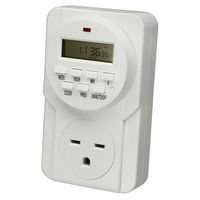 7-Day Digital Programmable Timer - 1 Outlet - Controls Grow System Devices - 1725 Max Wattage - 240V - 15A - UltraGROW UG-TR/D1/240