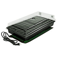 Germination Station - Propagation Kit - Includes Heat Mat, Tray, 72 Cell Pack, and 2 in. Dome - HydroFarm CK64050