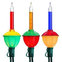 7 Multi-Color Bubble Lights - Length 7 ft. - Bulb Spacing 12 in. - Green Wire - 120V