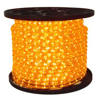 1/2 in. - LED - Amber - Chasing Rope Light - 3 Wire - 120 Volt - 150 ft. Spool - Clear Tubing with Amber LEDs - Signature LED-DLCH-AM