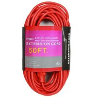50 ft. - Heavy Duty Extension Cord - 14 AWG - 3-Prong Grounded Plug - 15 Amp - 1875 Max. Wattage - 125 Volt - Orange - PWC C02408