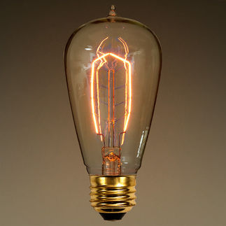 40 Watt - Vintage Antique Light Bulb - 1890 Edison Style - 4.8 in. Length - Hand-Wound Tungsten Filament - Multiple Support - Clear