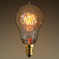 25 Watt - Vintage Antique Light Bulb - Victorian Style - 3.5 in. Length - Candelabra Base - Triple Loop Filament - Clear