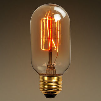 30 Watt - Vintage Antique Light Bulb - Radio Style - Hand Wound Tungsten Filament - Multiple Supports - Inside Golden Amber Glass