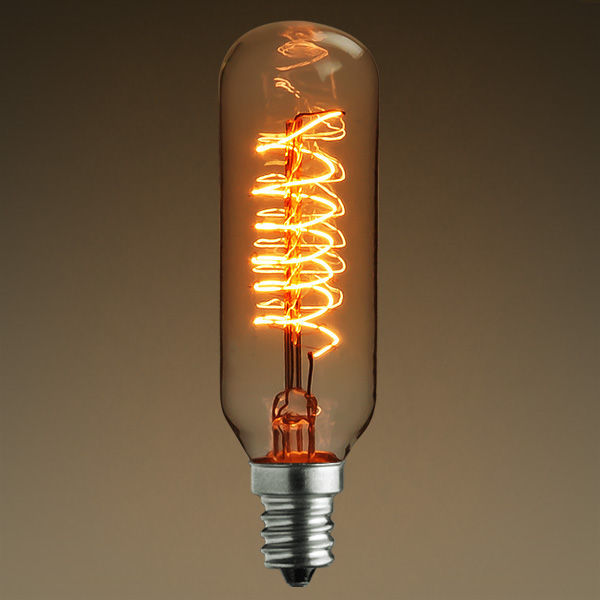 25 Watt - Vintage Antique Light Bulb - Tubular Style Image