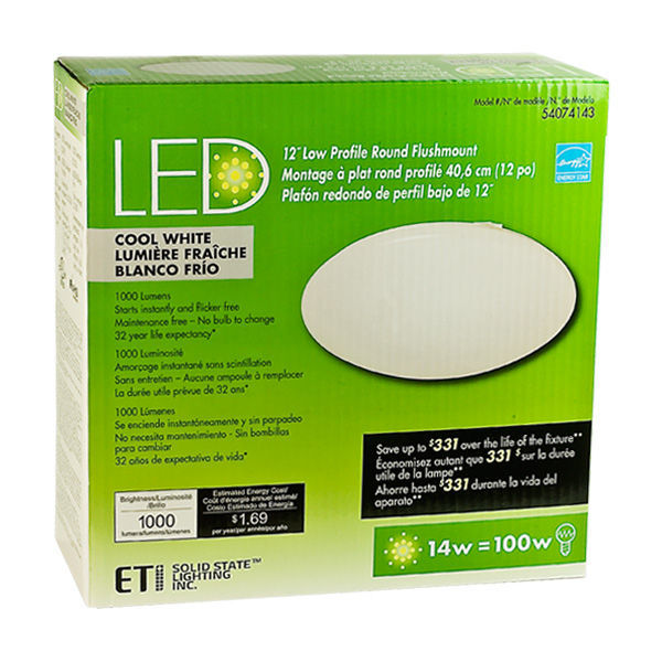 ETi 54074143 - LED Flush Mount Ceiling Fixture Image