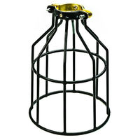 Light Bulb Cage - Open Style - Black - Clamp Mount