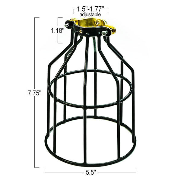 Light bulb cage black plt mc