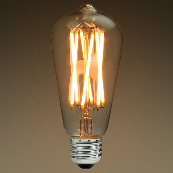 Led Edison Bulb Vertical Filament 6 Watt