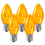25 Pack - C9 - LED - Amber-Yellow - Smooth Finish Image