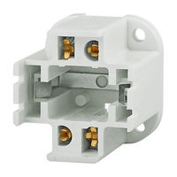 4-Pin G24q-4 and GX24q-4 CFL Socket - Bottom Screw Down Mount - Use With 42 Watt Twin Tube Lamps - Rated 75W-600V - Satco 90-2498