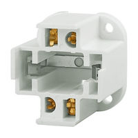 4 Pin G24q-3 and GX24q-3 CFL Socket - Bottom Screw Down - Use With 26 Watt Twin Tube Lamps - Rated 75W-600V - Satco 90-1551