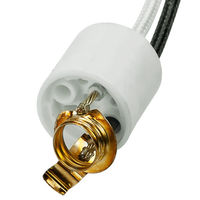 SYLVANIA 69652 - S7 - Steatite Socket - 36 in. Leads - 16 AWG - 300 Deg. C - Use with Halogen Lamps - Single Ended