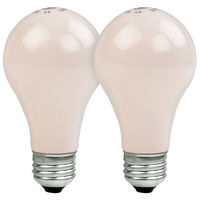 60 Watt - A19 Incandescent Light Bulb - 2 Pack - Opaque Soft Pink - Medium Base - 120 Volt - GE 97483