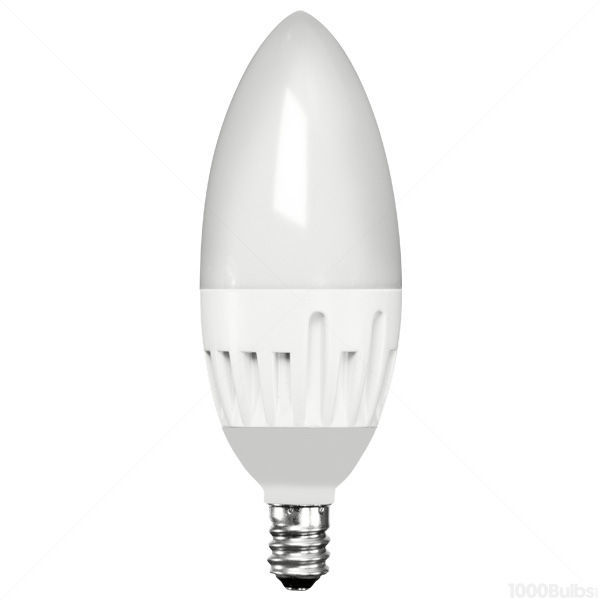 LED - 6 Watt - Frosted Straight Tip Torpedo - 45 Watt Equal Image