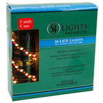 11.7 ft. Lighted Length Stringer - (36) Tear Drop LEDs - 4 in. Spacing - RED and WHITE Image