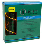 11.7 ft. Lighted Length Stringer - (36) Tear Drop LEDs - 4 in. Spacing - YELLOW Image
