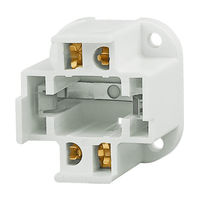 4 Pin G24q-2 and GX24q-2 CFL Socket - Vertical Screw Down Mount - Use With 18 Watt Twin Tube Lamps - Rated 75W-600V - Satco 90-1550