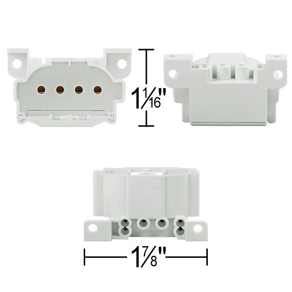 4 Pin 2GX7 Base CFL Socket Image