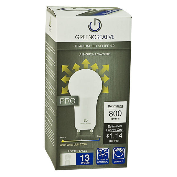 LED A19 - GU24 Base - 13W CFL Equal Image