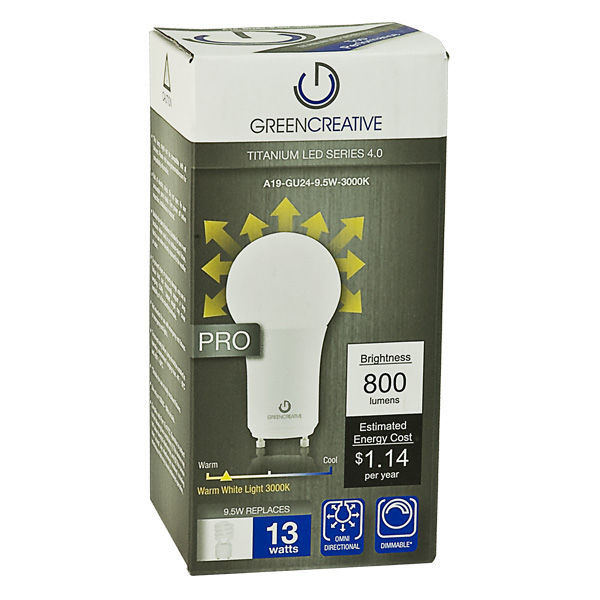 Dimmable LED - 9.5 Watt - A19 - Omni-Directional - 13W CFL  Equal Image