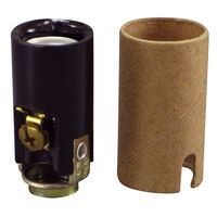 Keyless Socket - Phenolic - 75 Max. Watt - Candelabra Base - 1/8 IPS Hickey Mount with Screw Set - PLT 45-0200-99
