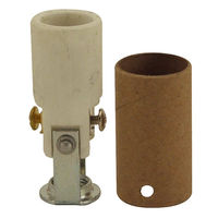 Keyless Socket - Porcelain - 75 Max. Watt - Candelabra Base - 1/8 IPS Hickey Mount With Screw Set