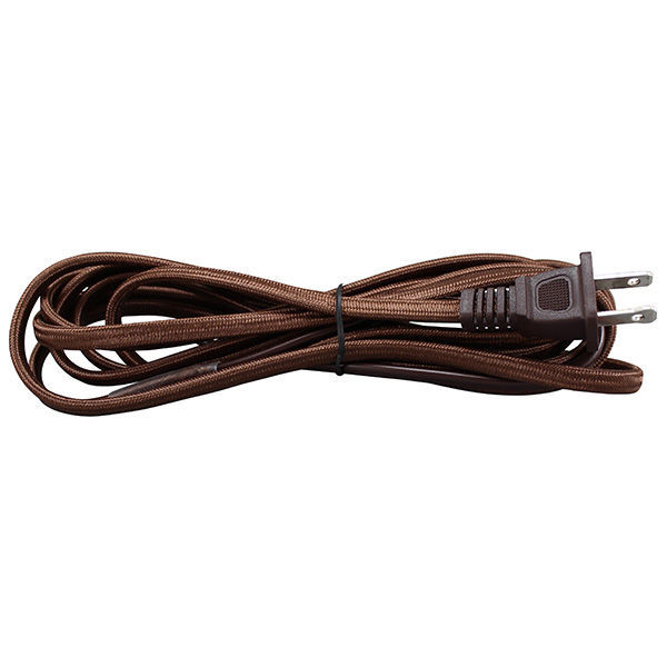 Rayon Covered Lamp Cord Set - Brown - 8 ft. Image