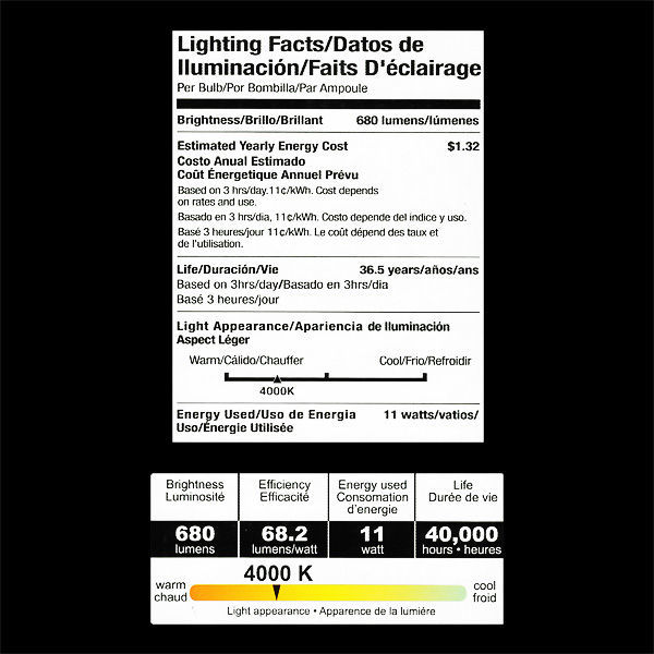 Eiko LEDP-11WPAR38/SP/840-DIM - Dimmable LED - 11 Watt - PAR38 Image