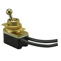 On/Off Toggle Switch - Polished Brass - 6 Amp - 125 Volt - PLT 55-0314-10