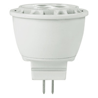 200 Lumens - 2700 Kelvin - LED MR11 - 3 Watt - 20W Equal - 30 Deg. Narrow Flood - CRI 80 - 12V - GU4 Base