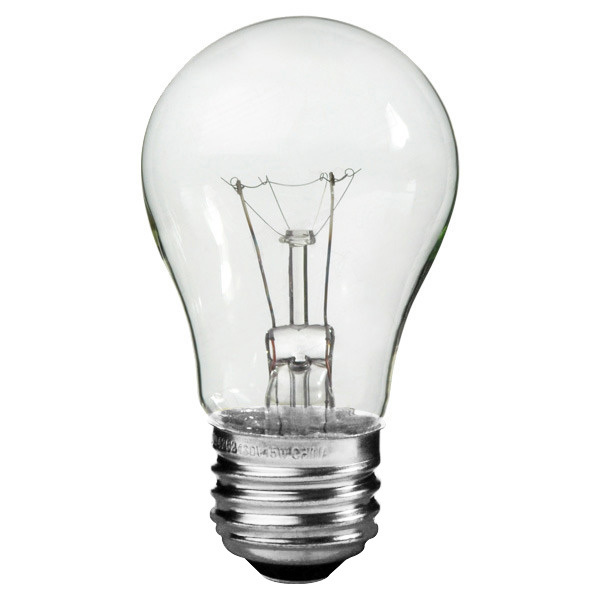 40 Watt - A15 - Clear - Appliance Bulb Image