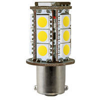 1156 - 3W Single Contact BA15s - LED - 228 Lumens - 15W Halogen Equal - 2500 Kelvin - Warm White - 12 Volt DC Only