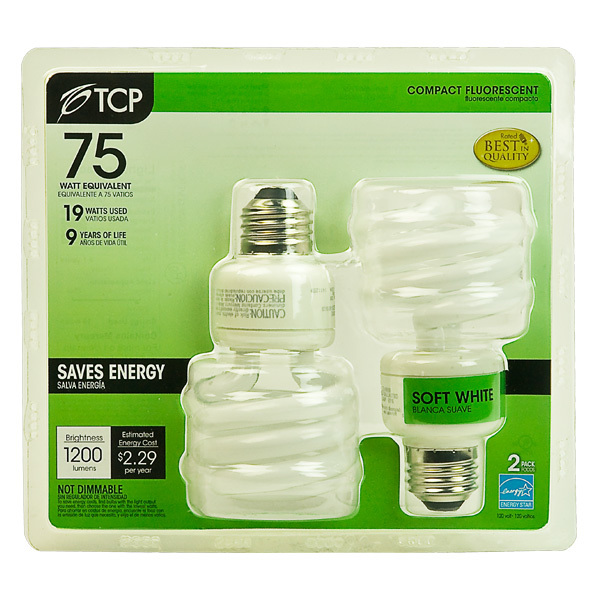 T3 Spiral CFL - 19 Watt - 75W Equal - 2700K Warm White Image