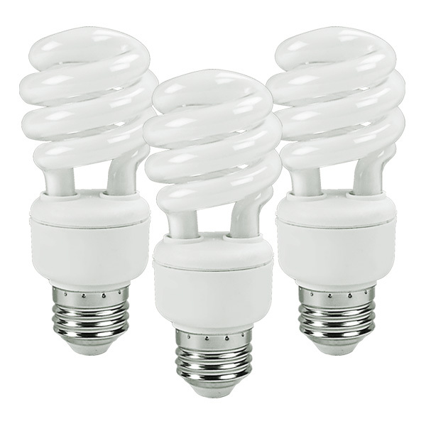 T3 CFL - 14 Watt -  60W Equal - 3500K Halogen White Image