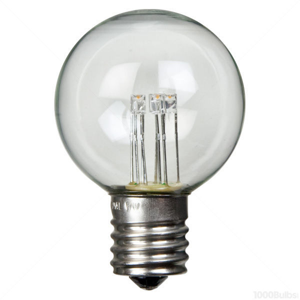 LED - 0.6 Watt - G16 Clear Globe - 2 in. Diameter Image