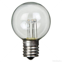 LED - 0.6 Watt - G16 Clear Globe - 2 in. Diameter - 3000K Warm White - Intermediate Base - 130 Volt - 25 Pack