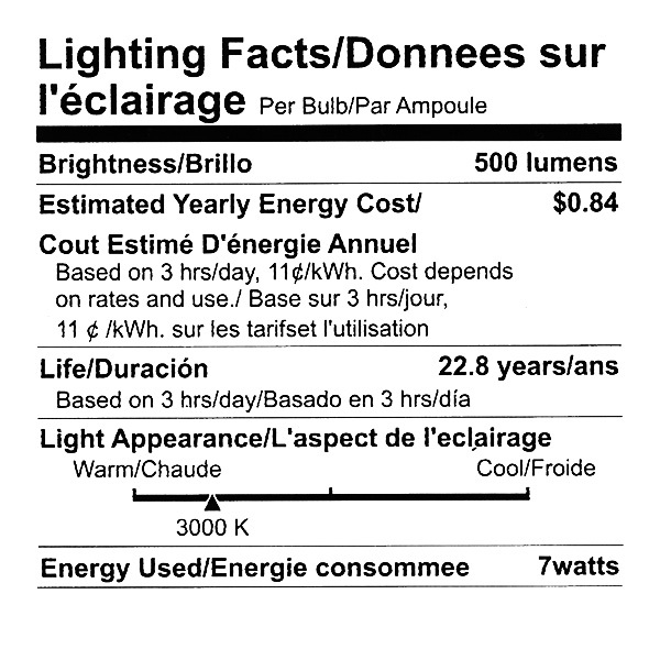 Dimmable LED - 7 Watt - A19 - Omni-Directional - 40 Watt Equal Image