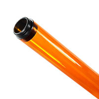 F96T8 - Amber - Fluorescent Tube Guard with End Caps - 96 in. Length - Protective Lamp Sleeve - Case of 12 - T8TG8A-12