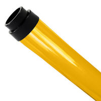 F96T8 - Yellow - Fluorescent Tube Guard with End Caps - 96 in. Length - Protective Lamp Sleeve - Case of 12 - T8TG8Y-12