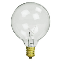 7 Watt - G16 Globes - Diameter 2 in. - 3,000 Life Hours - Candelabra Base - 130 Volt - 25 Pack