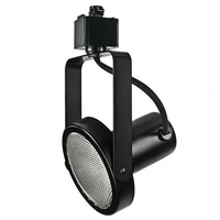 Black - Gimbal Ring Track Fixture - Uses Medium Based Bulbs R30/PAR30 or Smaller - L-Style Track Compatible - 120 Volt - Nora NTH107B/L