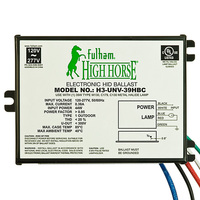Fulham H3-UNV-39HBC - 39 Watt - Electronic Metal Halide Ballast - Bottom Lead Mounting