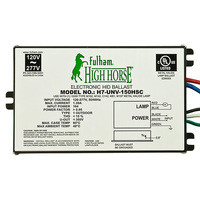 Fulham H7-UNV-150HSC - 150 Watt - Electronic Metal Halide Ballast - ANSI M81/102/107/142 C142 - 120/277 Volt - Power Factor 95% - Max. Temp. Rating 185 Deg. F - Side Leads