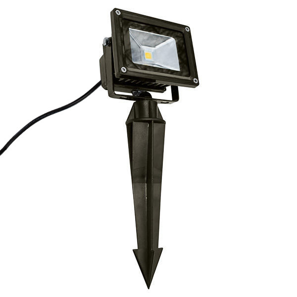 10 Watt - 50W Equal - LED Flood Light Fixture with Ground Stake Image